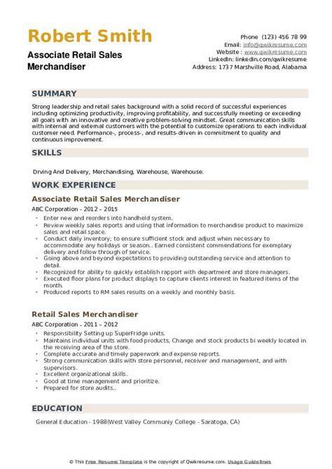 Resume Sample Retail Sales