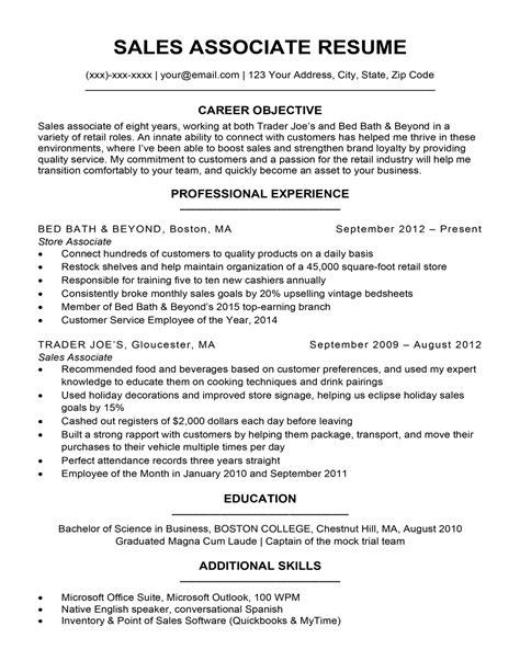 Retail Sales Associate Resume Examples CV Templates Download Free CV Templates [optimizareseo.online]
