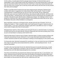 Retirement bible study: individual or group options instruction