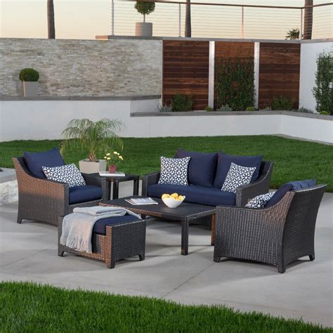 Revere 8 Piece Sunbrella Sectional Set with Cushions