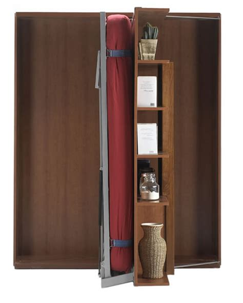 revolving bookcase wall bed Image