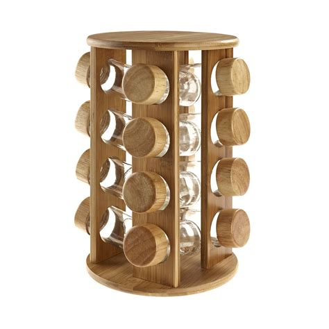 Revolving wooden spice rack Image