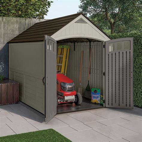Ride on mower shed Image
