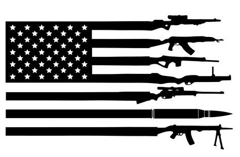 Rifle Flag Decal