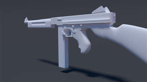 Rifle High Poly 3d Model