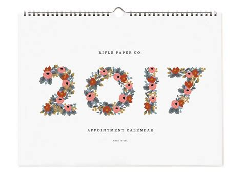 Rifle Paper 2017 Appointment Calendar