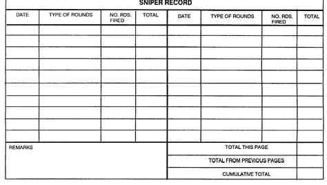 Rifle Range Log Book