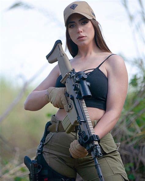 Rifle Shooting Babe Nude