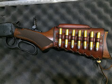 Rifle Stock Covers Leather