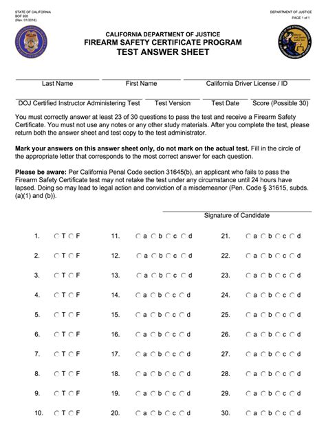 Rifle Test California