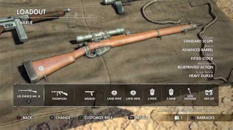 Rifle Upgrades Sniper Elite 3
