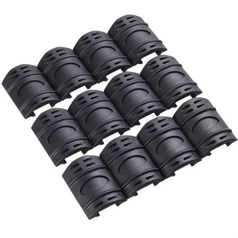 Rifle Weaver Picatinny Handguard Quad Rail Covers Rubber