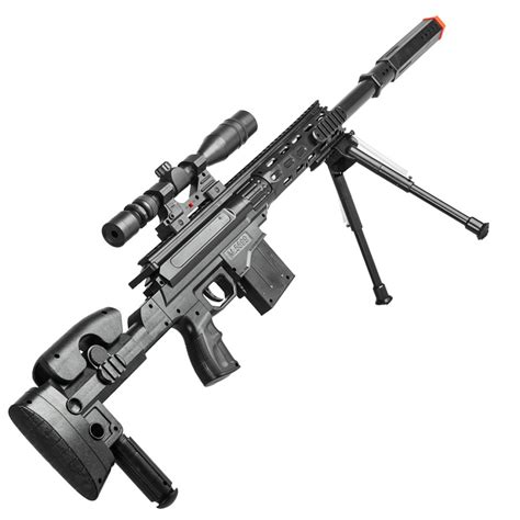 Rifle-Scopes Rifle With Bipod And Scope.