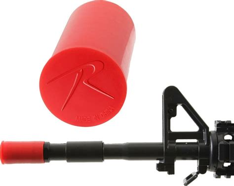 Rifle With Red Plug At End Of Barrel