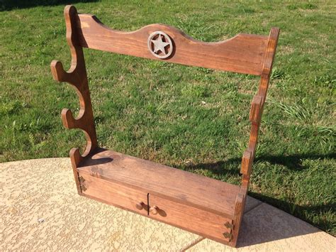 Rifle rack woodworking plans Image