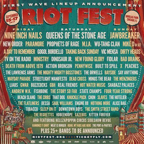 Riot Fest 2017 Lineup Reddit