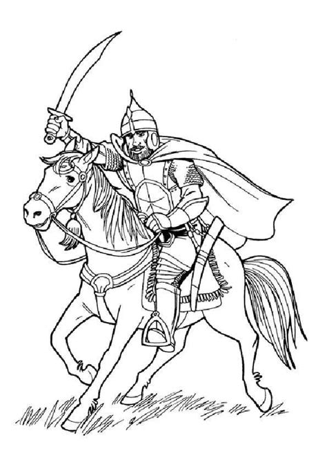 Ritter Ausmalbilder Malvorlagen