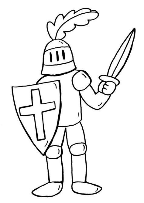 Ritter Malvorlagen Für Kinder Comic