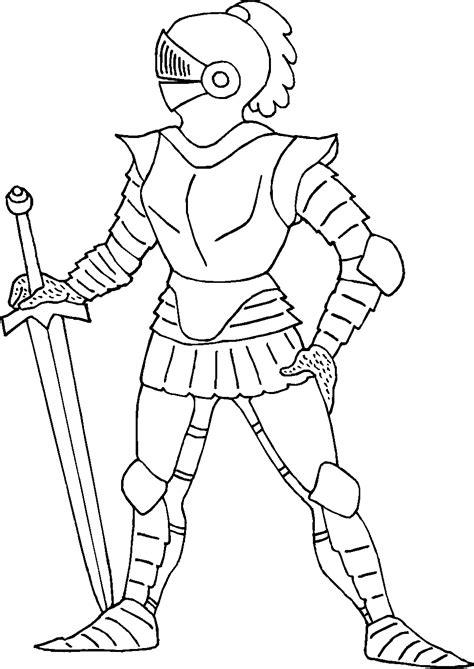 Ritter Malvorlagen Für Kinder Figuren