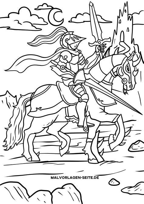 Ritter Malvorlagen Für Kinder Quiz
