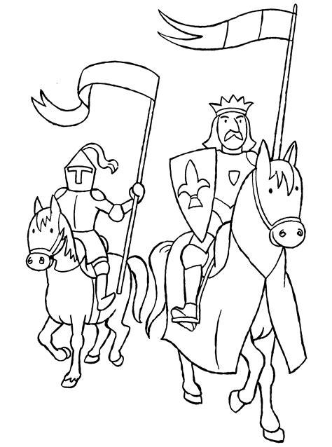 Ritter Malvorlagen Für Kinder Um