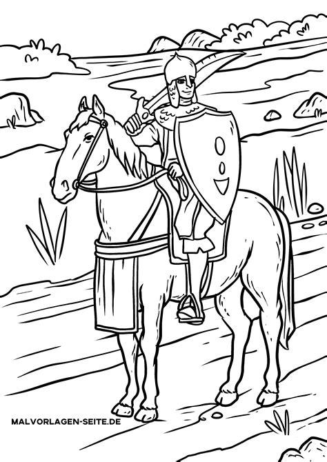 Ritter Malvorlagen Für Kinder Xxl
