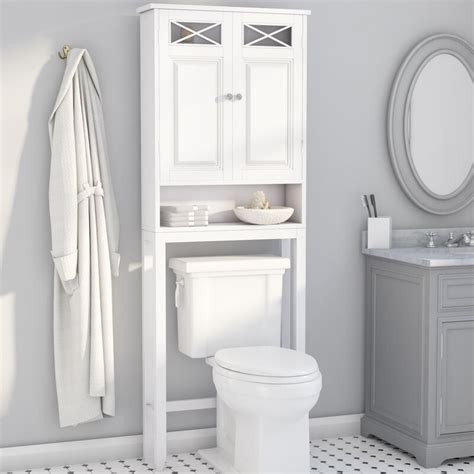 "Roberts 25"" W x 68"" H Over The Toilet Storage"