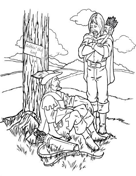 Robin Hood Malvorlagen Novel