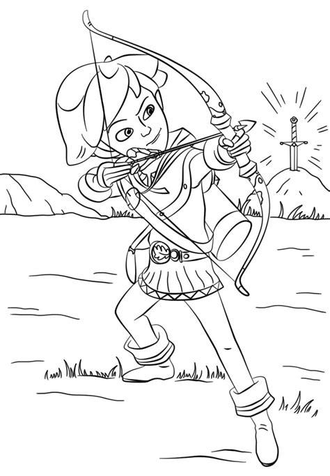 Robin Hood Malvorlagen Online