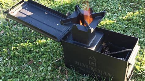 Rocket Stove Made From Ammo Can