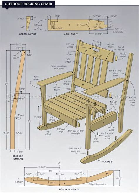 Rocking chair plans free Image