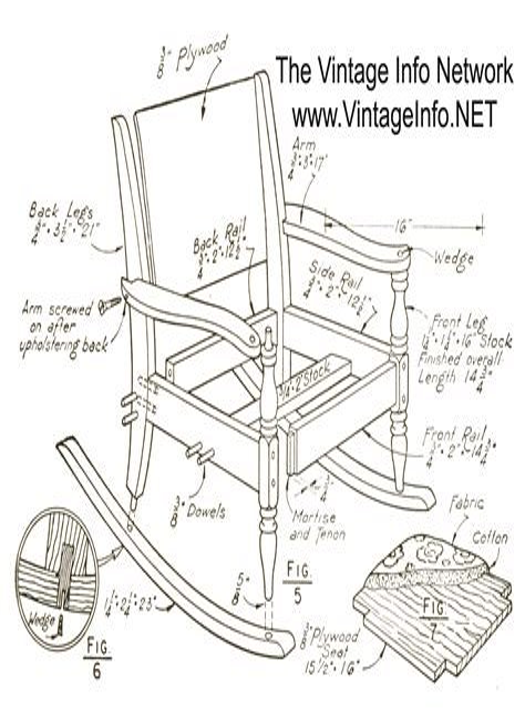 Rocking chair plans free download Image