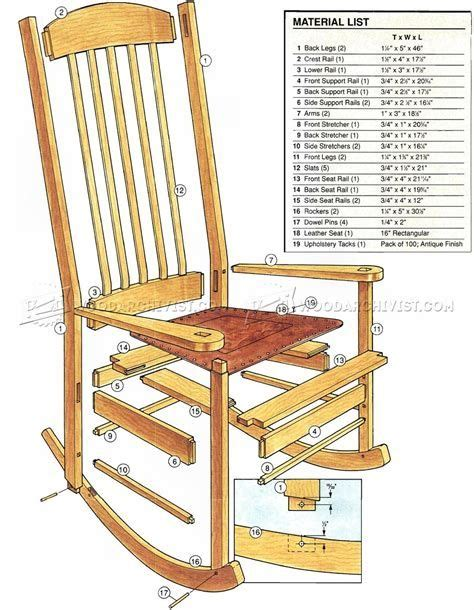 Rocking chair plans woodworking Image