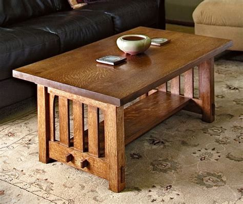 Rockler Mission Style Coffee Table Plans