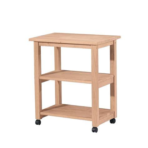 Rolling wood cart Image