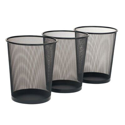 Ronda Steel 6 Gallon Waste Basket (Set of 3)