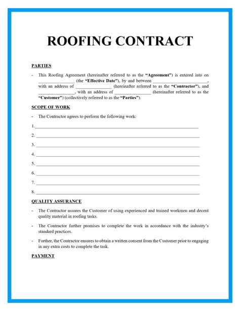 Roofing Contract Template Free CV Templates Download Free CV Templates [optimizareseo.online]