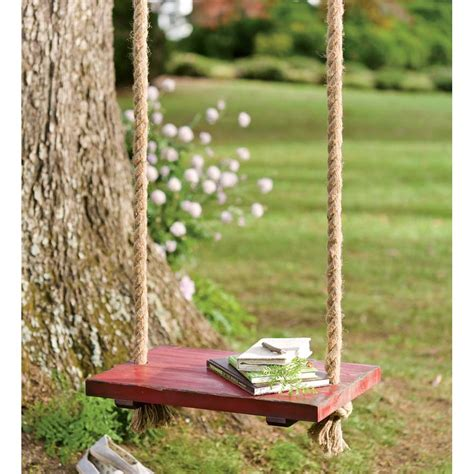 Rope swing seat wood Image