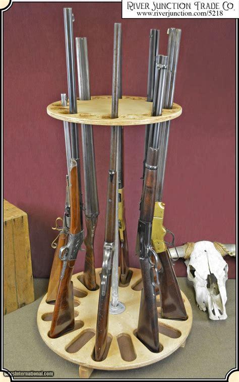 Rotating Gun Rack In A Gun Safe