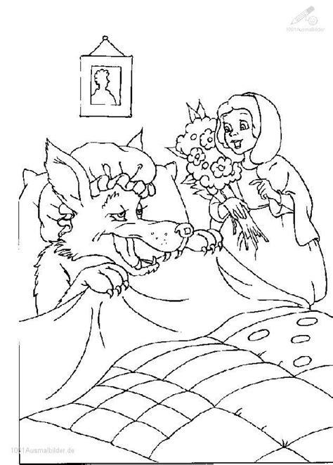 Rotkäppchen Wolf Ausmalbilder