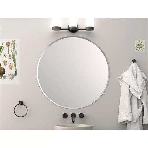 Round Flush Mount Beveled Frameless Bathroom/Vanity Mirror