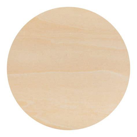 Round circle wood cutouts Image