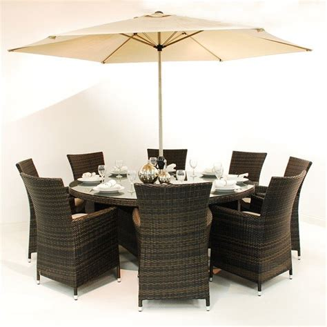Round dining room sets for 8 Image