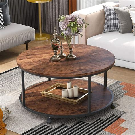 Round Rustic Coffee Table Plans