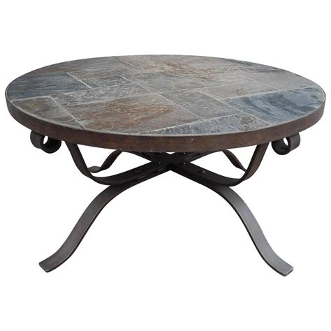 Round Slate Coffee Tables Image