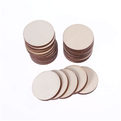 Round wood craft pieces Image