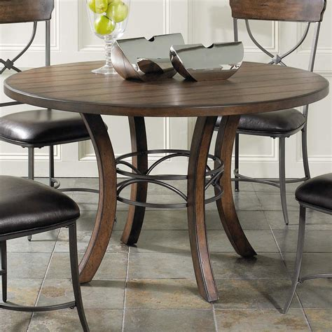Round wood kitchen table Image