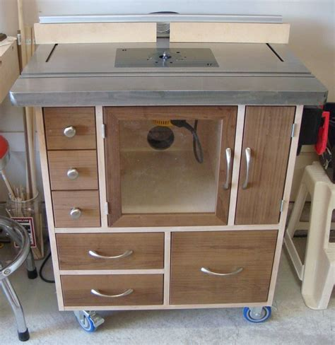 Router table cabinet plans Image