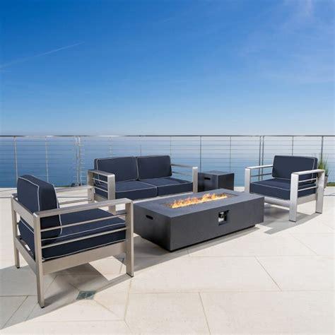 Royalston 5 Piece Sunbrella Sofa Set with Cushions