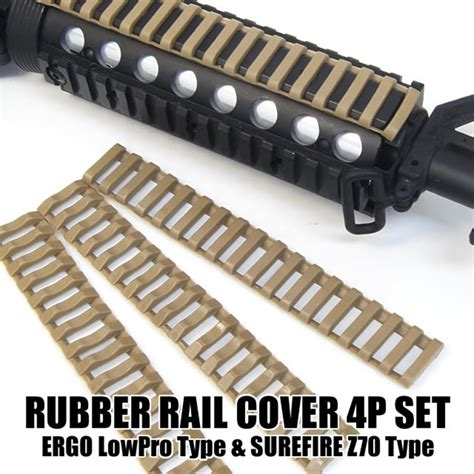 Rubber Picatinny Rail Covers